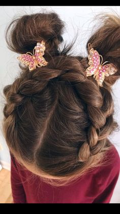 Braids Messy Buns Hair For Your Little Miss Braids Buns Hair For Girls Kids Hairstyles Young Girls Hairstyles, Cute Toddler Hairstyles, Childrens Hairstyles, Easy Little Girl Hairstyles, Dance Hairstyles, Flower Girl Hairstyles, Young Girl Haircuts, Picture Day Hairstyles, Easy Hairstyles