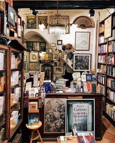 Photo by Pretty Book Places in Naples, Italy with Image may contain: 1 person Beloved Book, Used Books, Book Lovers, Gallery Wall, Instagram, Photo And Video, Places, Shopping, Beautiful