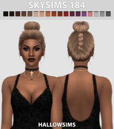 Skysims 184 Top Bun Hair for The Sims 4