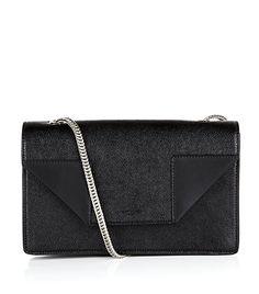 Saint Laurent Betty chain bag in black. dual tone and material