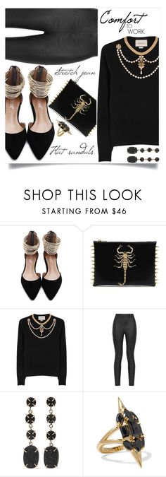 """""""Comfort#chic"""" by liligwada ❤ liked on Polyvore featuring Gucci, Armani Jeans, Melissa Joy Manning and Noir Jewelry"""