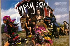 One of my most favorite photo shoots ever. I had all the photos hanging on my bedroom wall in high school. Gypsy Soul, Vogue, 1992