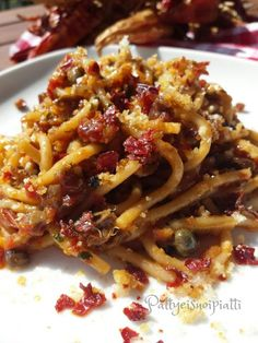 spaghetti saporiti con peperone crusco