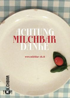 Postkarte Milchbar