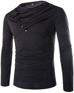 jeansian Herren Slim Fit Casual Heap Collar Long Sleeves T-shirts Tees Tops D641 Black L [Apparel] Jeansian http://www.amazon.de/dp/B015O4QAQ4/ref=cm_sw_r_pi_dp_MtZNwb1HHVJ3X