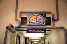 Theme your hallways according to different time periods! Use the Time Tracker image, along with PVC pipes, to show what time period you're in! #TimeLab #VBS2018