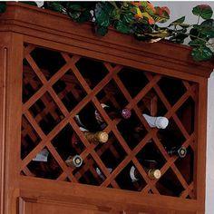 Omega National Cabinet Mount Wine Bottle Lattices - Squared Edges…