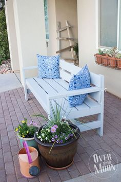 DIY Front Porch Bench | Over The Big Moon