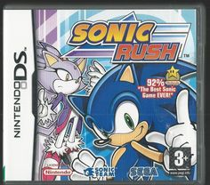 Nintendo Ds SONIC RUSH (plays 3ds in 2D)