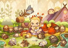 Contribution to The Hobbit by thousandskies.com ! This is Thranduil in his swag nursery. Party Hard Thrandy!
