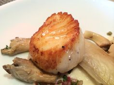Marea - New York, NY, United States. Capesante, seared sea scallops, oyster mushrooms, grilled endive, pickled shallots