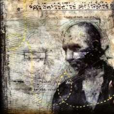 """Christian Faur . . """"The World is the Totality of Facts"""" ... Encaustic"""