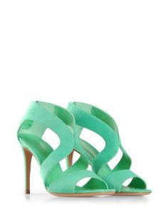 ooh so bright - i love LOVE the color here. i'd get married in these. Gianvito Rossi, $665.