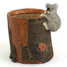 Top Collection 475Inch Miniature Fairy Garden and Terrarium Koala Bear Functional Flower Pot for Succulents Mini ** Learn more by visiting the image link.