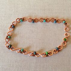 Easy beginner bracelet, infinity chain with beads, DIY free tutorial