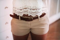 white lace and khakis