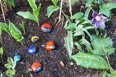 Kunterbunte Marienkäfer im Garten // DIY Kids – Reges Leben Vegetables, Spring, Diy, Life, Lawn And Garden, Bricolage, Vegetable Recipes, Do It Yourself, Homemade