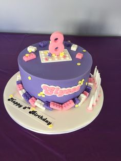 Lego friends cake by Savvy cakes.