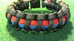 "Thin Blue/Red Line ""Combined Police, Fire, 911/Public Safety"" Paracord Bracelet"