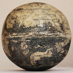 This 510 year old globe was painstakingly etched into the surface of an ostrich egg in Italy. Photo credit: Washington Map Society