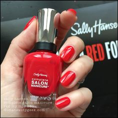 sally hansen red my lips Opi Nail Colors, Red Nail Polish, Nail Polishes, Sally Hansen Nails, Dry Nails, Stylish Nails, All Things Beauty, Long Nails, Beauty Nails