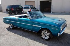 1963 BLUE FORD FALCON SPRINT CONVERTIBLE.   RePinned by : www.powercouplelife.com