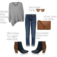 """Complete The Look: """"Ivy League""""-Two Toned Ankle Boots"""