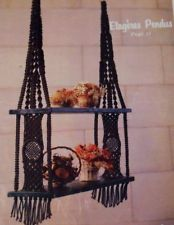 Vtg Pattern Book Macrame Elegance Wall Hang Plant Hanger Shelf Table Curtain