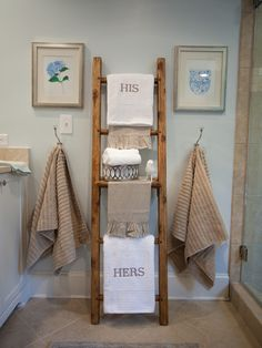 What every apartment bathroom that doesn't have enough or any towel hanger needs!