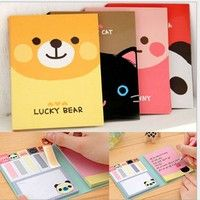 Wish | Cute Animals Sticker Post-It Bookmark Point It Marker Memo Flags Sticky Notes