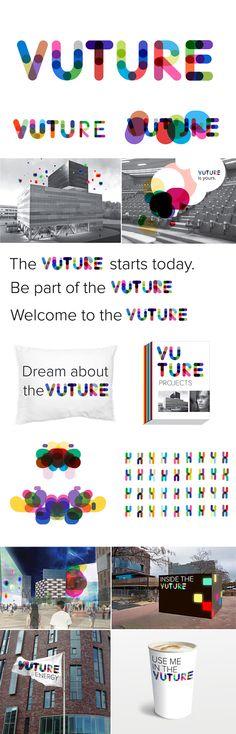 Visual identity for VUTURE University Amsterdam Corporate Design, Brand Identity Design, Graphic Design Branding, Graphic Design Illustration, Logo Branding, Logo Design, Design Agency, Logo Inspiration, Logo Typo