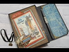 "Tutorial of the Week: Graphic 45 ""Cityscapes"" Travel Wallet Folio - ButterBeeScraps"
