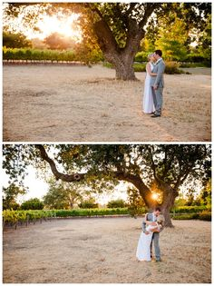 Santa Ynez California Small Vineyard and Private Farm Wedding Photography - Romatnic Kiss at Sunset  Boutique Destination Wedding Photography by Paul & Jewel - International Lifestyle Photographers
