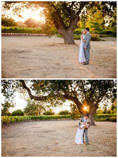 Santa Ynez California Small Vineyard and Private Farm Wedding Photography - Romatnic Kiss at Sunset  Boutique Destination Wedding Photography by Paul & Jewel - International Lifestyle Photographers