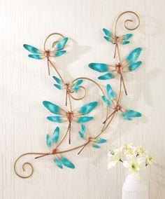 Dragonfly Hanging Metal Wall Art