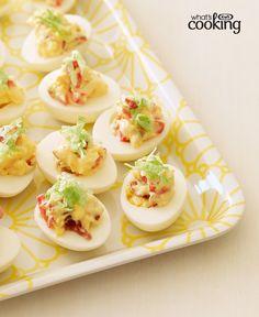 BLT Devilled Eggs #recipe