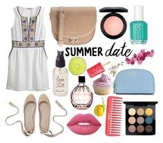 """""""Summer date"""" by ltmorris on Polyvore featuring Calypso St. Barth, Parfois, Olivine, MAC Cosmetics, Lime Crime, Jimmy Choo and MICHAEL Michael Kors"""