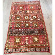 Image of Large Vintage Azilal Abstract Rug - 5′6″ × 9′7″