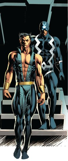 Namor and Black Bolt by Mike Deodato Jr