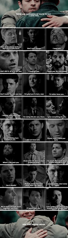 there are hundreds of ways to say i love you, you just gotta listen #spn #destiel