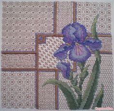 Ирис. Крестики и блэкворк / Iris. Crosses & Blackwork