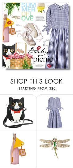 """Picnic Summer"" by kitty-kimber ❤ liked on Polyvore featuring Rosetta Getty, Betsey Johnson and ChloBo"