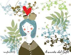 Amante del café ilustración