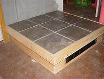 Have any of you built a separate box to raise your stove up? My liberty sits on a thick hearth pad but with it that low it is a pain bending over or.