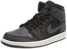 new styles e726d 86616 Nike Men s Air Jordan 1 Mid Basketball Shoes, Black (Blackdark Gr E Y  Summit White