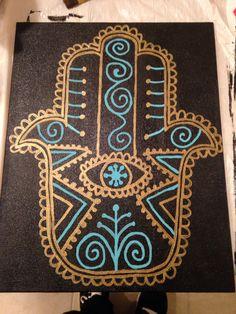 Hamsa canvas (by Lindsay Santacroce)