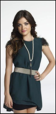 "Lucy Hale (""Pretty Little Liars"") in the Revival Tassel Necklace by Stella & Dot"