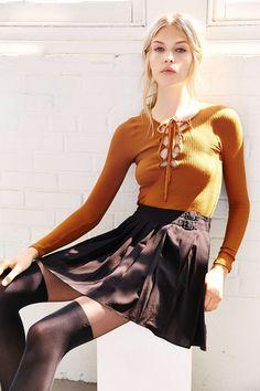 Silence + Noise Rebella Kilt Skirt