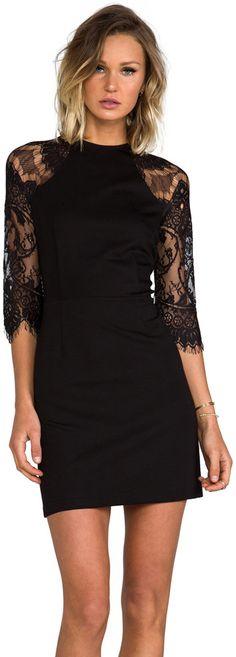1cf0ebf70b BB Dakota Princeton Ponte Dress w  Lace Sleeves - women s fashion   sexy  black clothing apparel