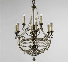 Meriel 3 Light Medium Wood and Iron Chandelier Google Share, Iron Chandeliers, Ceiling Lights, Facebook, Wood, Home Decor, Decoration Home, Woodwind Instrument, Room Decor